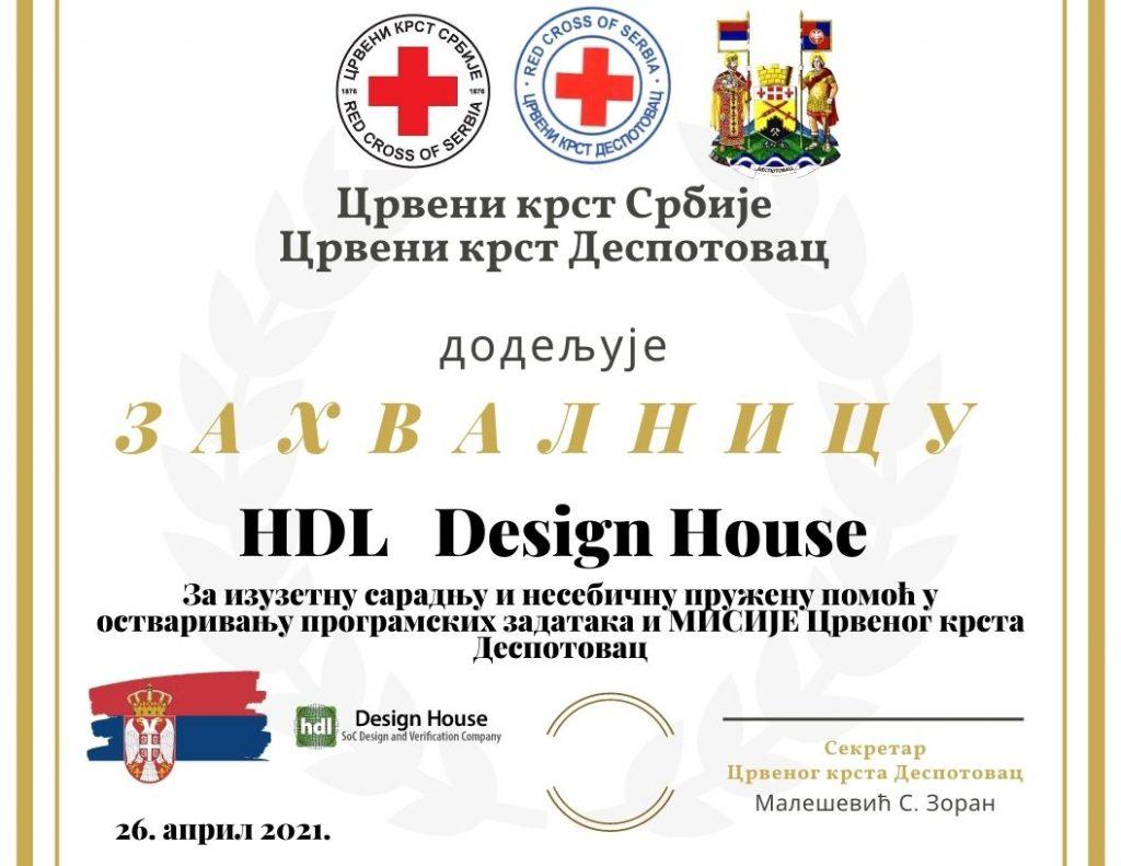 HDL Design House – донација Црвеном крсту Деспотовац