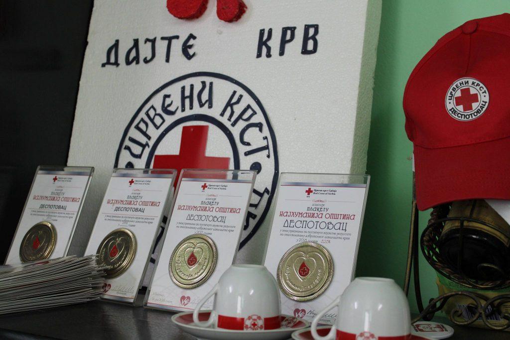 Додела признања вишеструким добровољним даваоцима крви 2021.